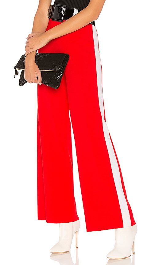 Marled x Olivia Culpo Track Pant in Red