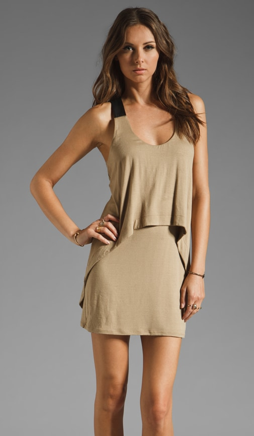 Leather Strap Tank Dress