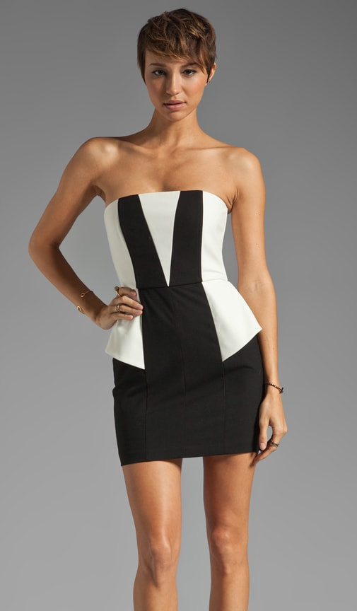 Contrast Strapless Mini dress