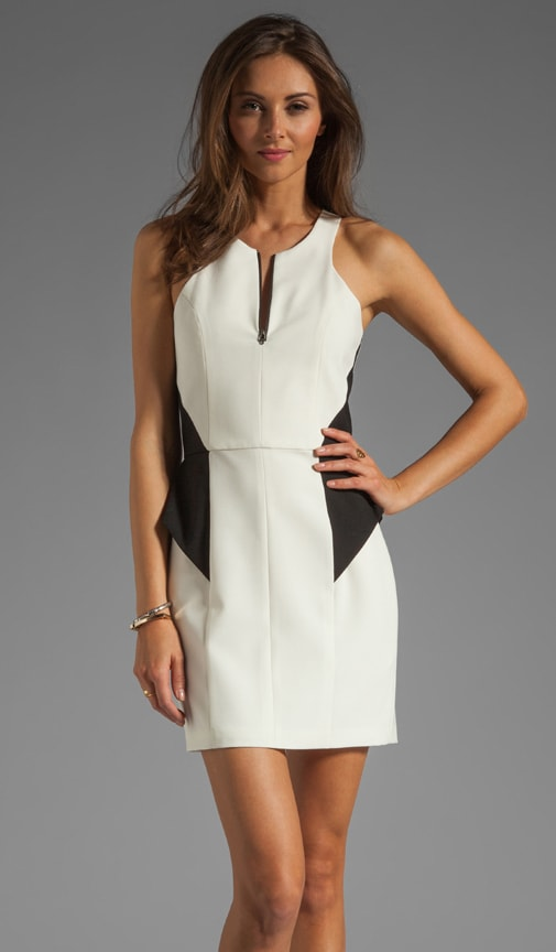 Zip Front Peplum Dress