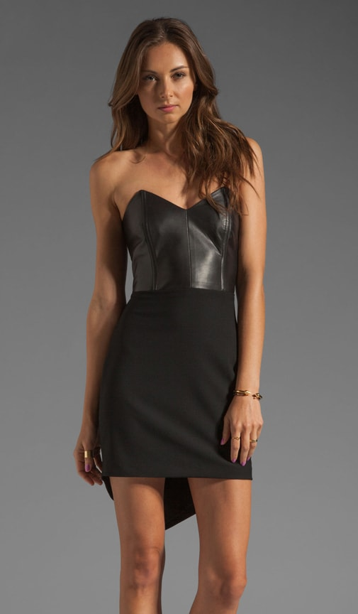 Leather Front Corset Mini Dress