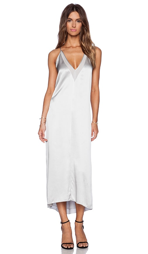 Michelle Mason Slip Maxi Dress in Ash | REVOLVE
