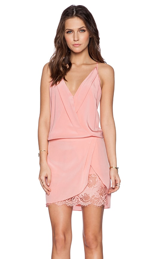 Mason by Michelle Mason Wrap Mini Dress in Rose