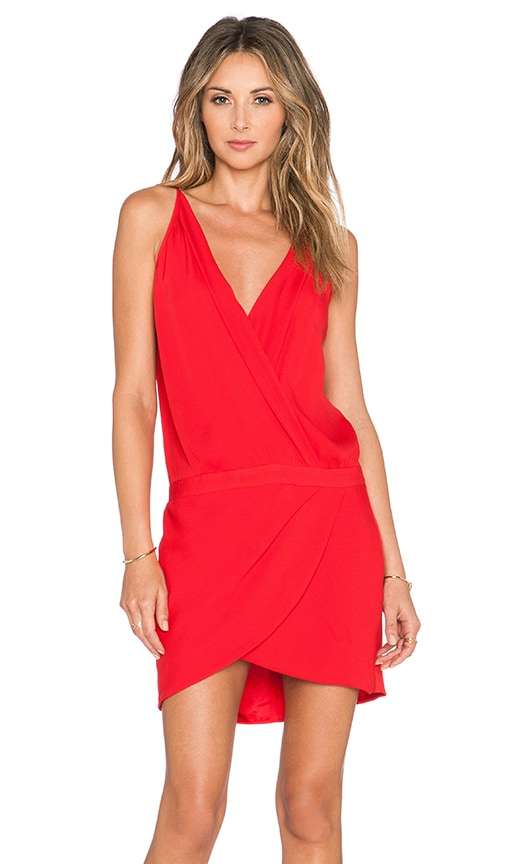 x REVOLVE Cami Wrap Mini Dress