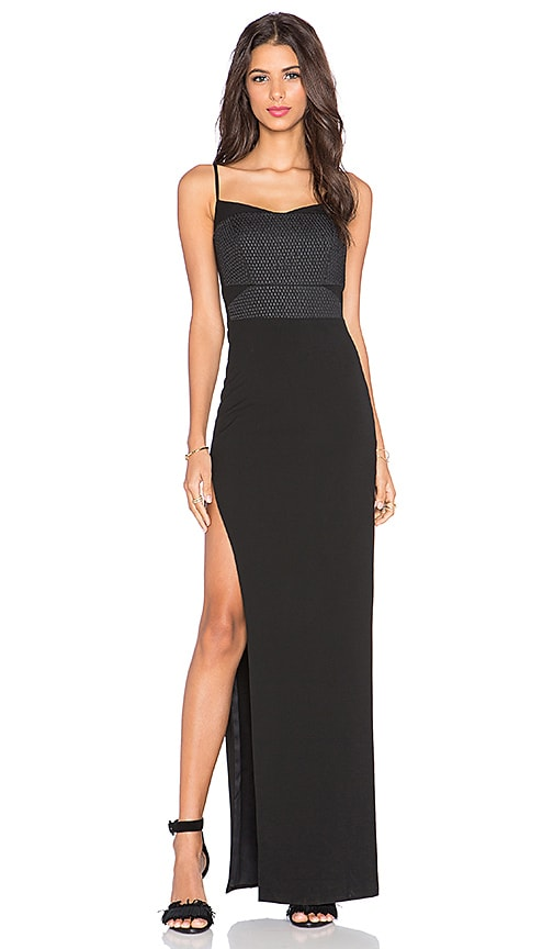 Side Slit Corset Gown
