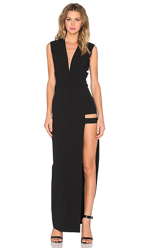 Cage Plunge Gown