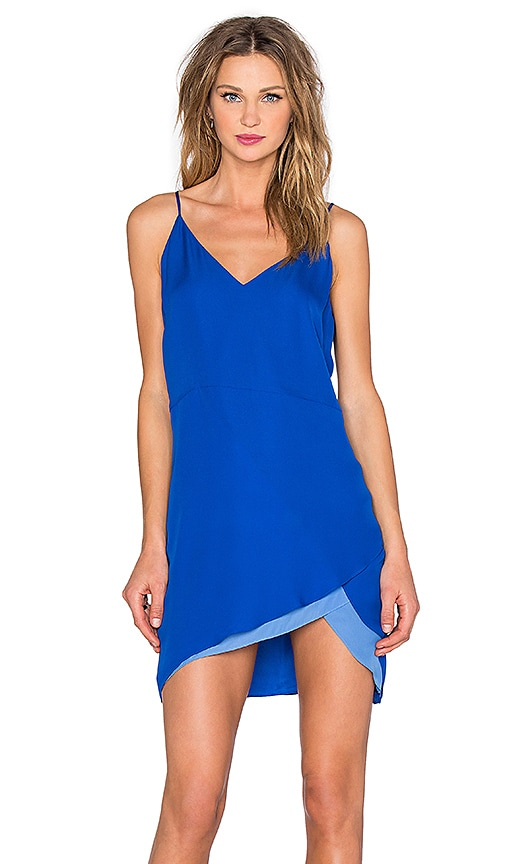 Mason by Michelle Mason Contrast Slip Dress in Blue