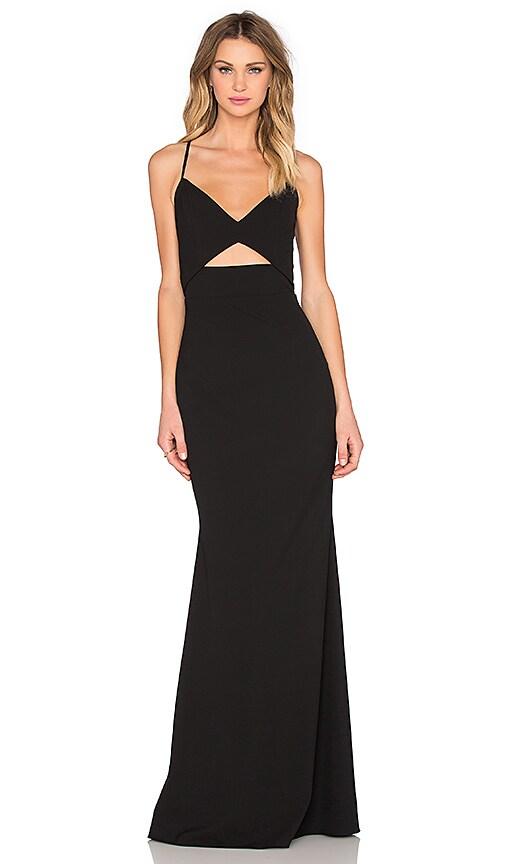Mason by Michelle Mason Bustier Gown in Black