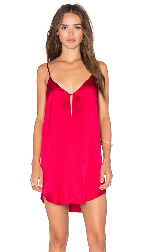 Mason by Michelle Mason Mini Slip Dress in Red