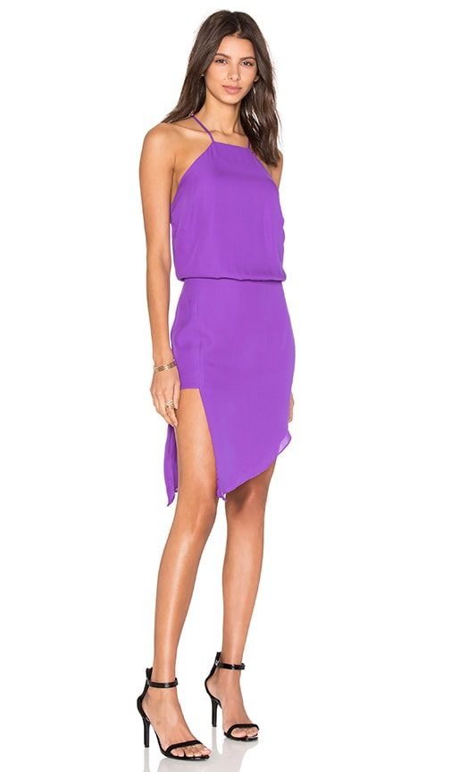 Mason by Michelle Mason Paneled Midi Dress in Purple