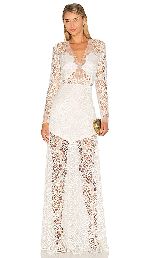 Long Sleeve Lace Gown