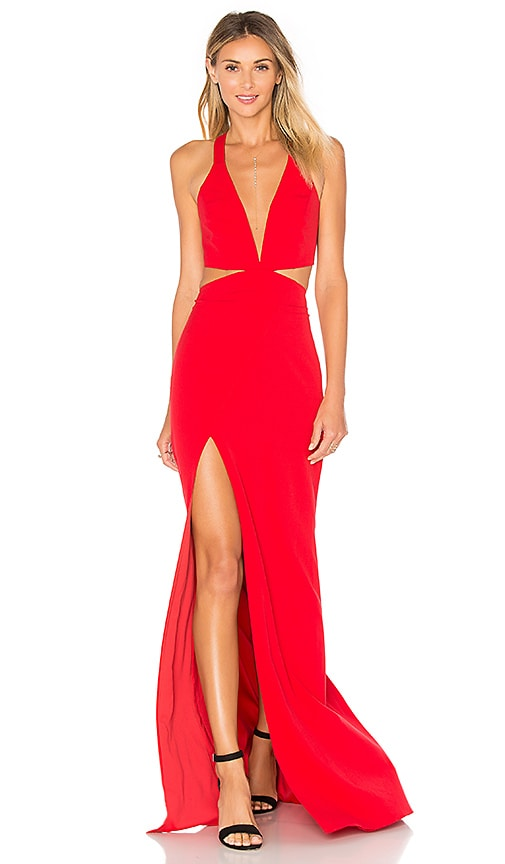 x REVOLVE Cut Out Plunge Gown