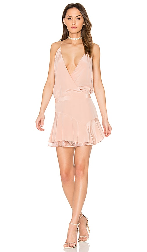 Michelle Mason x REVOLVE Cami Ruffle Mini Dress in Blush