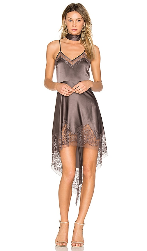Michelle Mason Lace Inset Dress in Purple