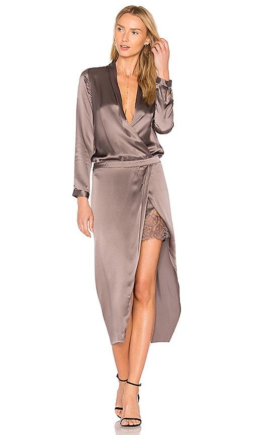 Michelle Mason Wrap Dress in Purple