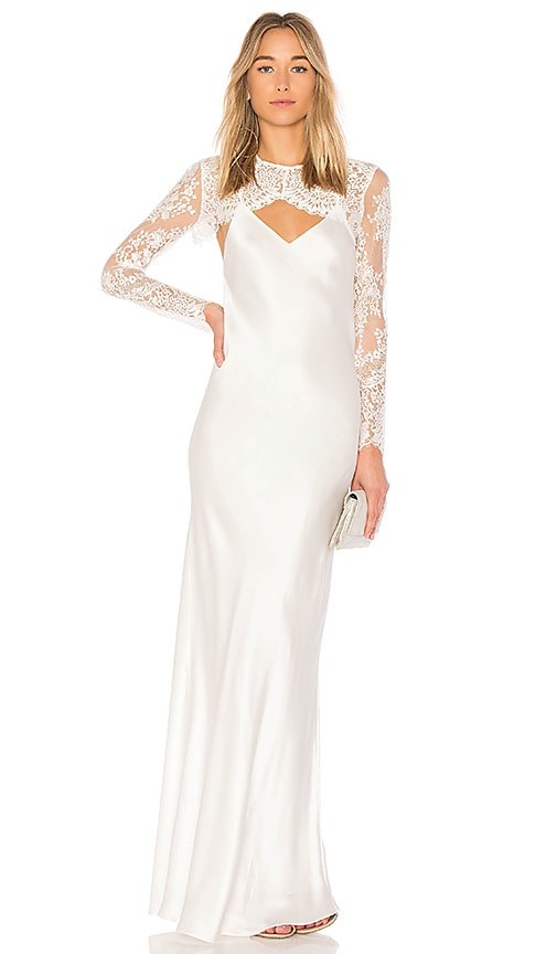 X REVOLVE Bias Lace Shrug Gown
