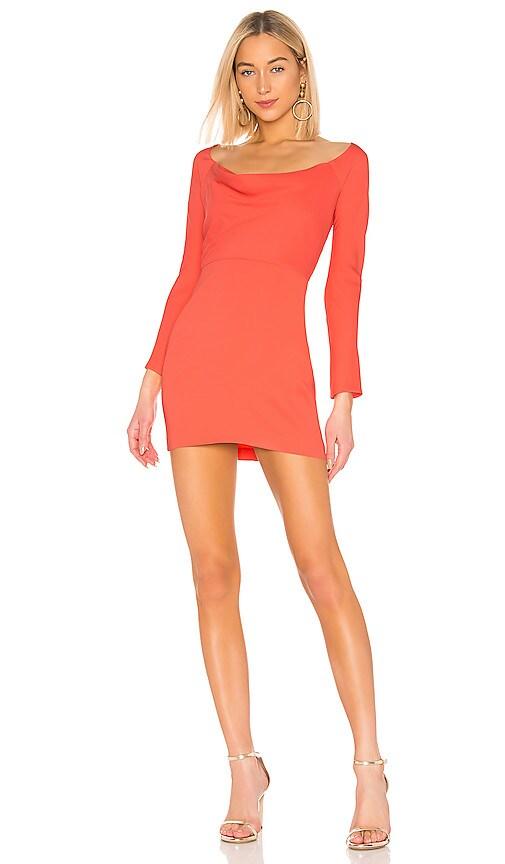 Off Shoulder Cowl Mini Dress