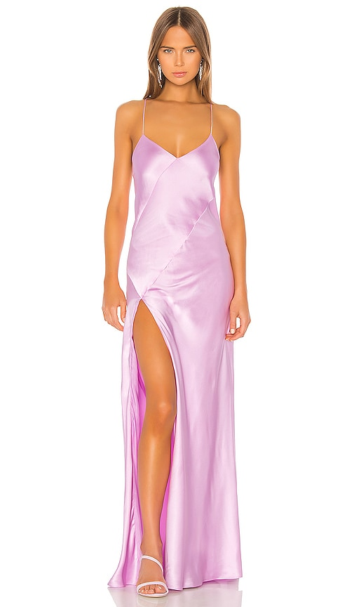 Bias Gown With Slit by Michelle Mason
