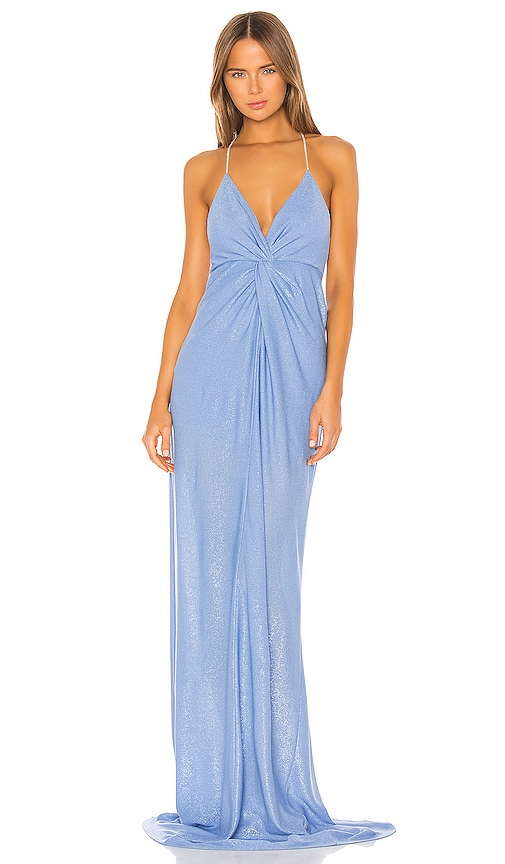 Twist Gown with Crystal Straps