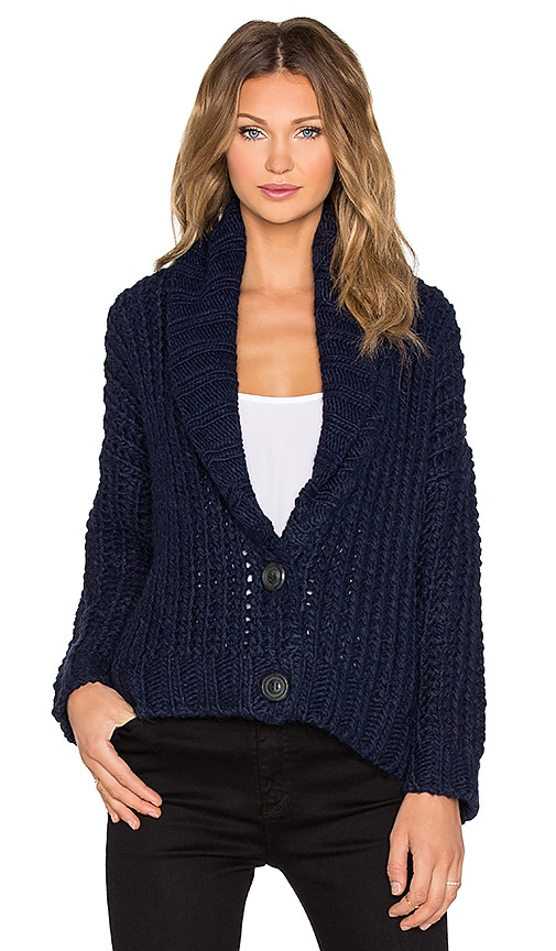 Michelle Mason Chunky Cardigan in Navy