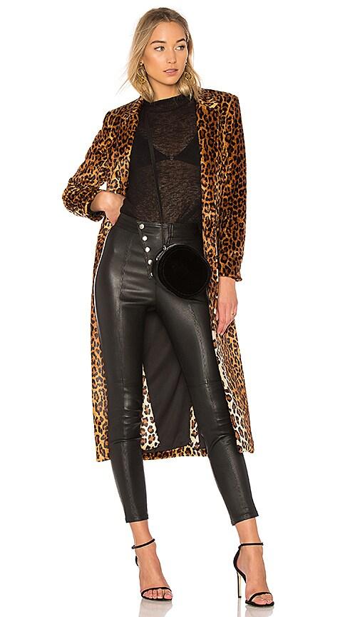 Michelle Mason Maxi Coat in Brown
