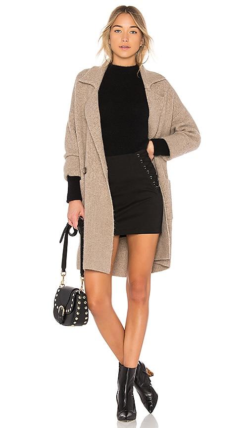 Michelle Mason Cardi Coat in Brown