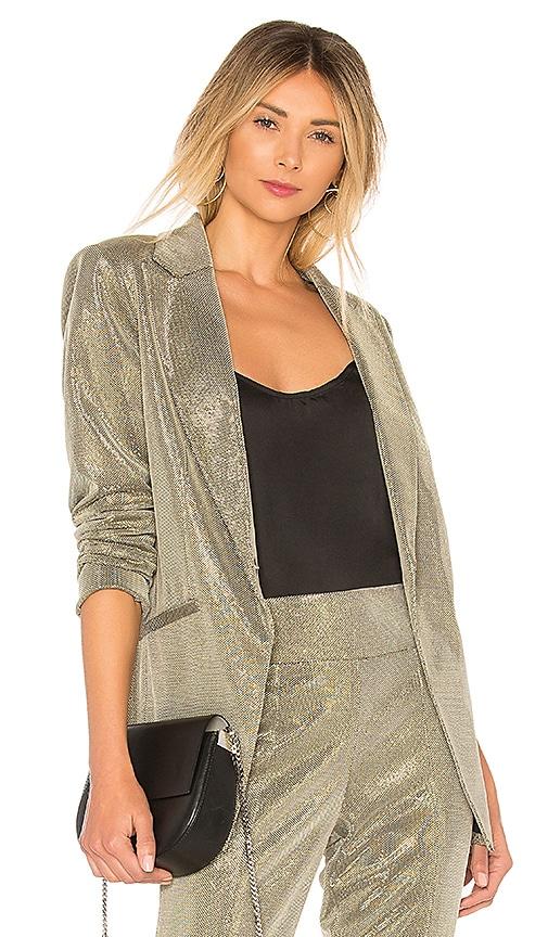 Michelle Mason Boxy Blazer in Metallic Silver