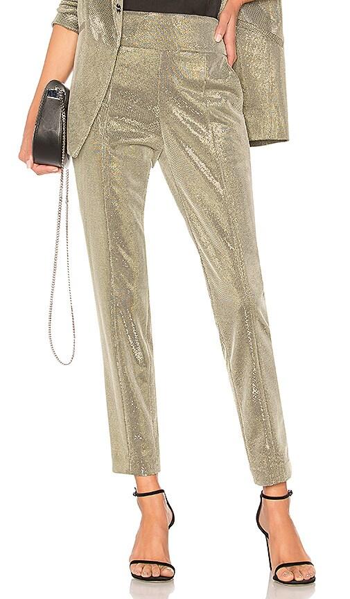 Michelle Mason Tailored Trouser in Metallic Silver