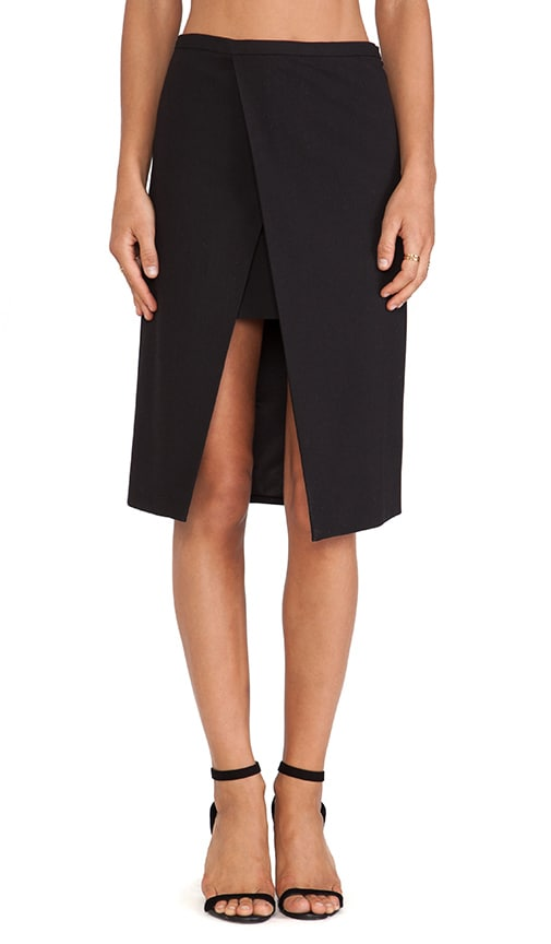 Michelle Mason Origami Skirt In Black Revolve