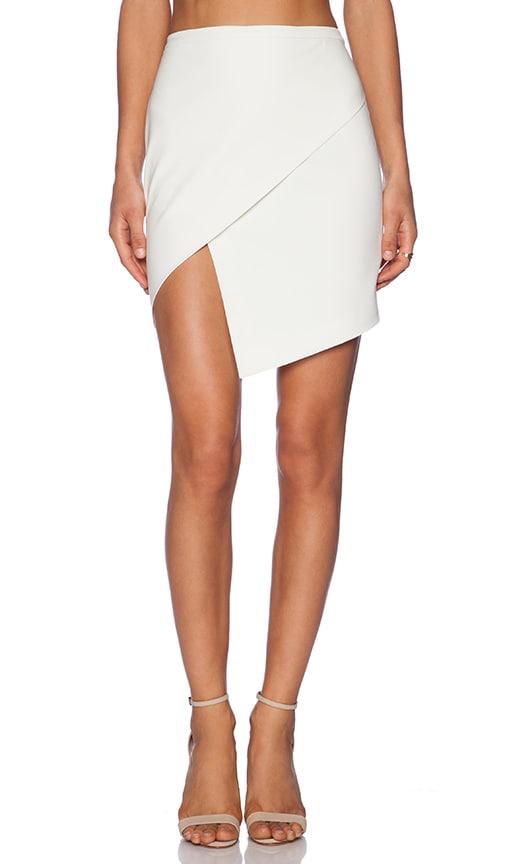 Mason by Michelle Mason Asymmetrical Wrap Skirt in Ivory