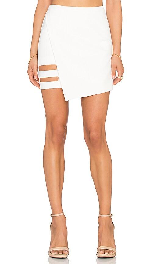 Mason by Michelle Mason Mini Skirt in Ivory