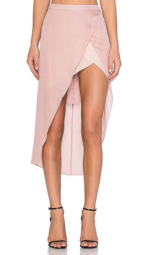 Skirt with Contrast Slip