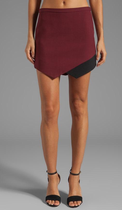 Contrast Hem Skirt