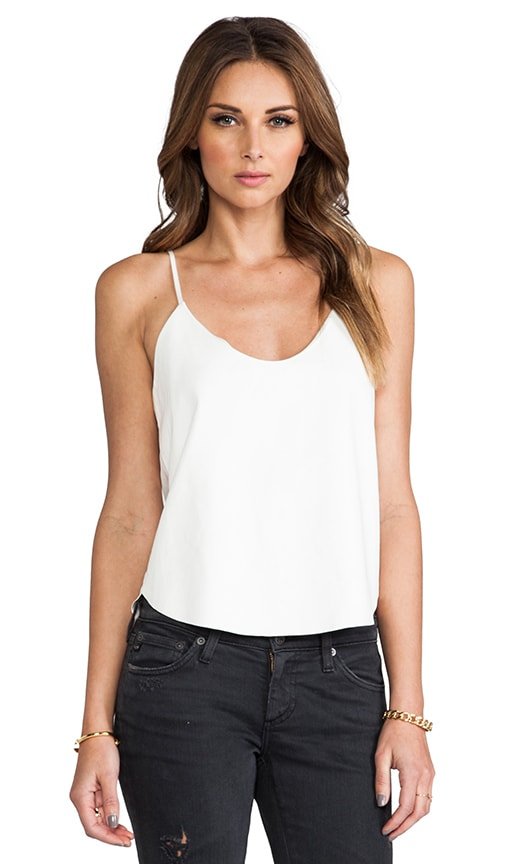 Crop Leather Tank