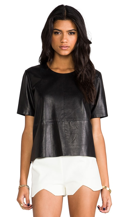 Leather Tee