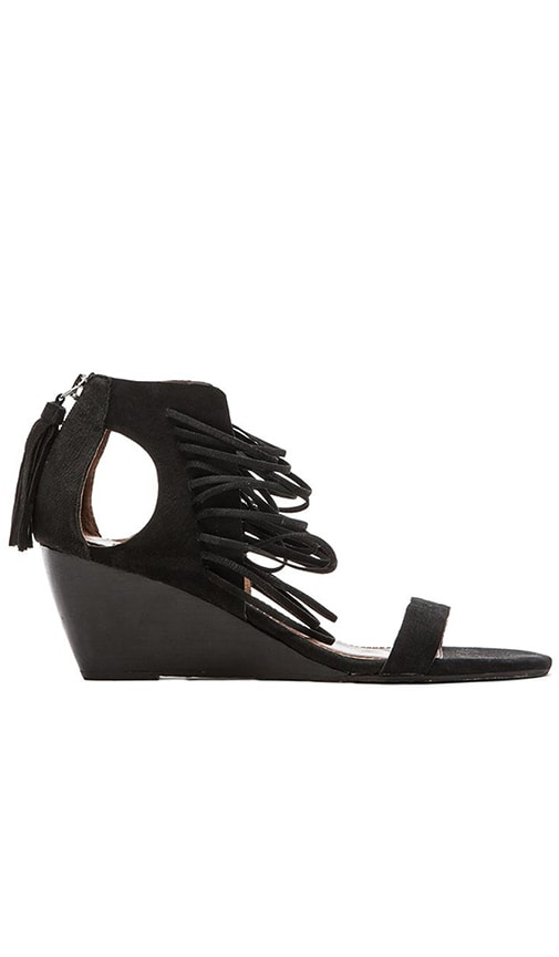 Matiko Bryn Wedge Sandal in Black