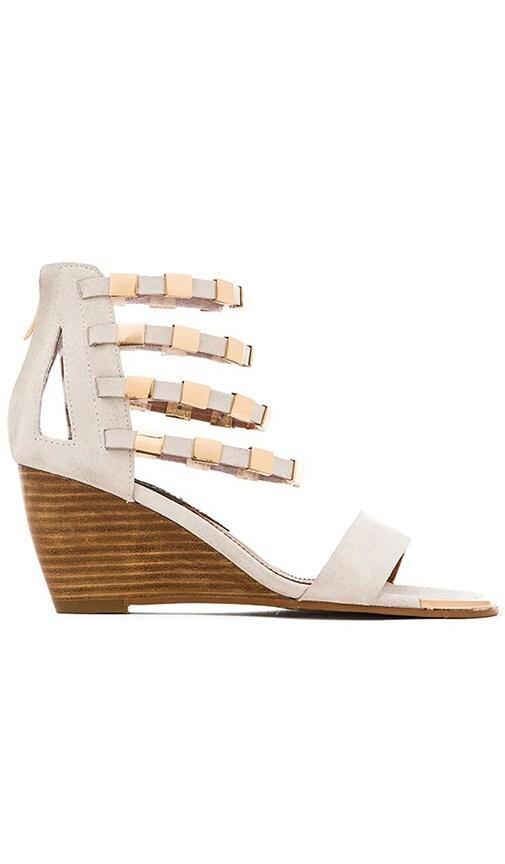 Matiko Karyn Wedge Sandal in White & Gold