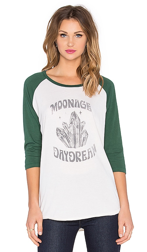 MATE the Label Moonage Daydream Billie Tee in White & Hunter