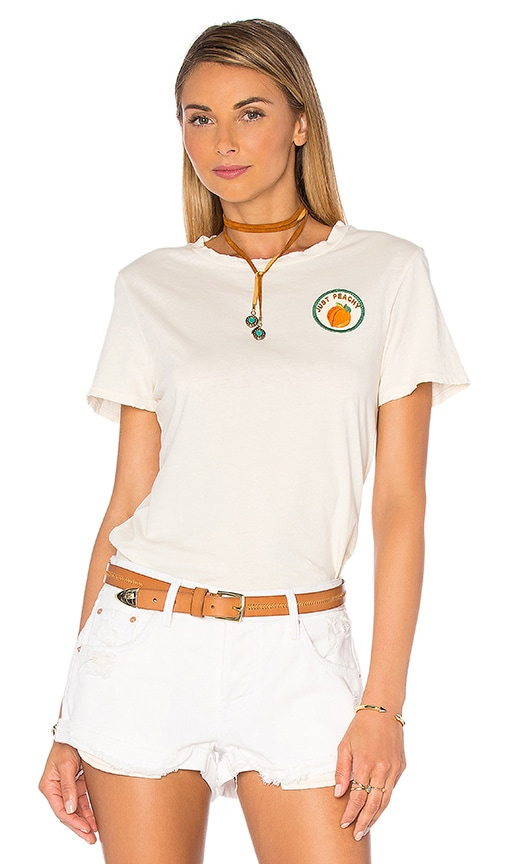 MATE the Label Just Peachy Beau Crew Tee in Ivory
