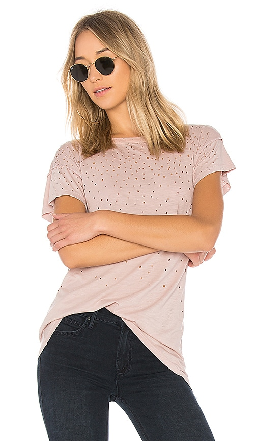MATE the Label Kat Tee Distressed in Rose