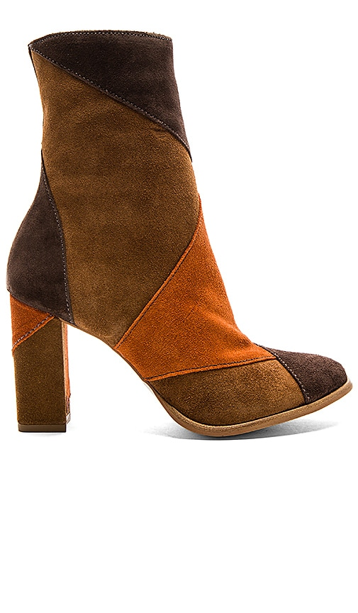 Matisse Jigsaw Booties in Brown