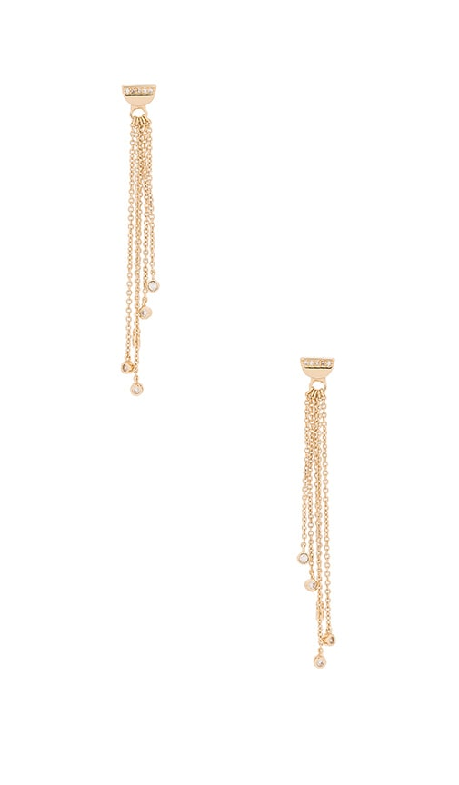 Melanie Auld Half Circle Chain Drop Earrings in Gold