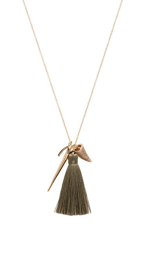 Melanie Auld The Horn Necklace in Metallic Gold e00s0MI