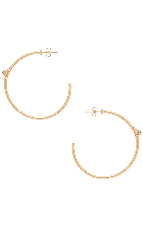 Melanie Auld Starburst Hoop Earrings in Metallic Gold