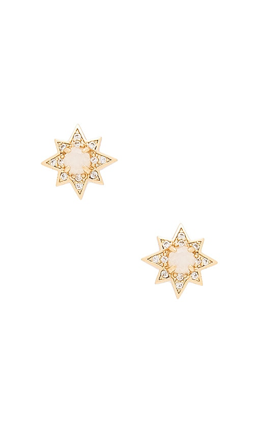 Melanie Auld Starburst Stud Earrings in Metallic Gold