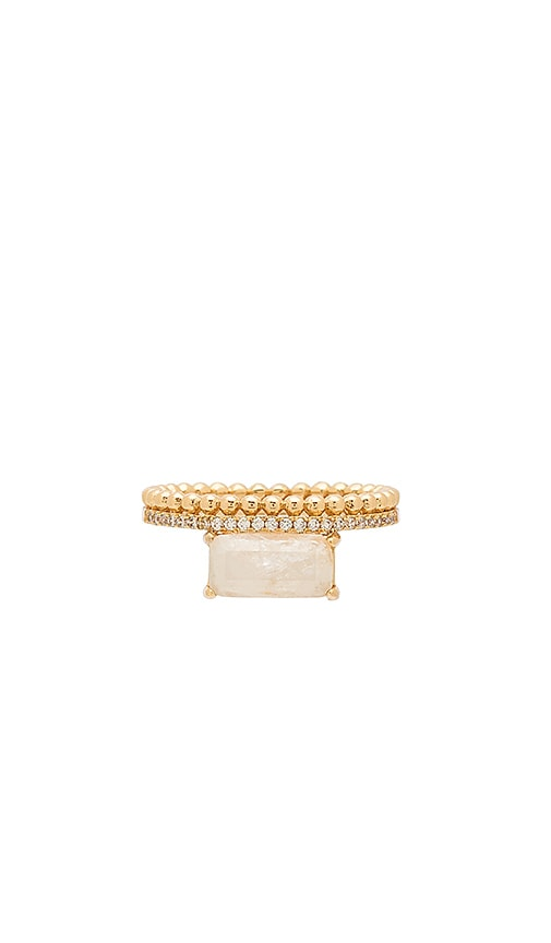 Melanie Auld Double Band Ring in Metallic Gold