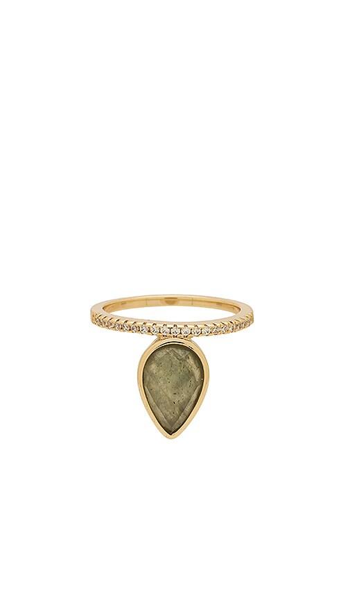 Melanie Auld Teardrop Stacking Ring in Metallic Gold
