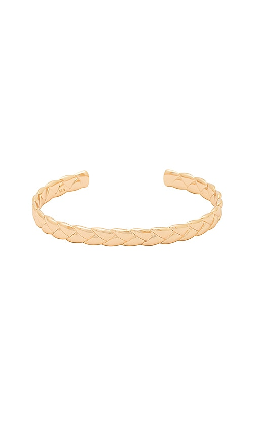 Melanie Auld Woven Cuff in Metallic Gold
