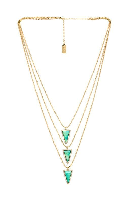 3 Tier Pave Triangle Necklace