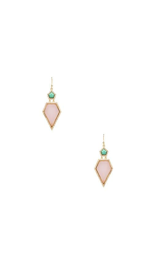 Pave Double Pentagon Earrings